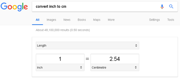 How Many Centimetres Are There In One Inch Quora