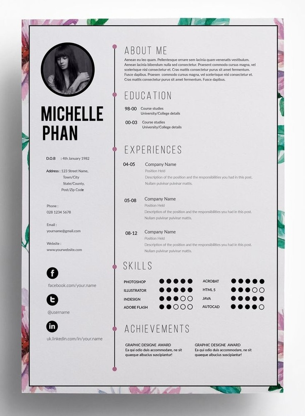 what should a modern cv look like