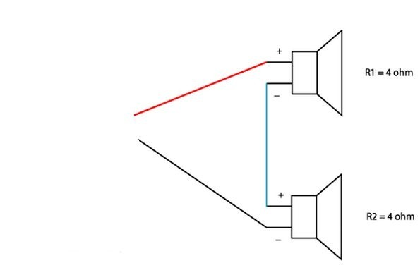Is there any way I can wire two speakers with 4 ohms a piece into a ...