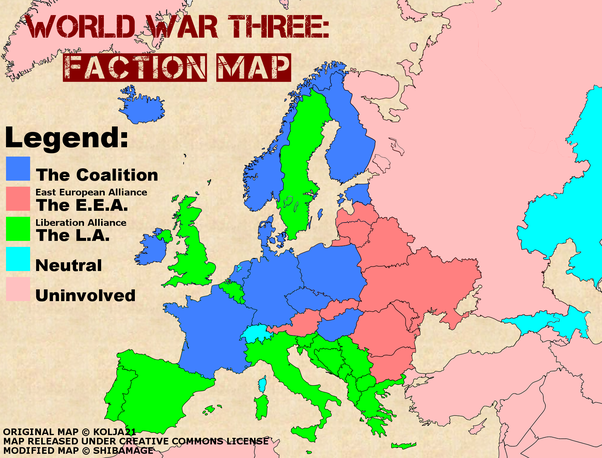 Could the european political map change in the next 50 years quora i would add italy and spain to the blue coalition united with the east european alliance as an economic block with a sphere of influence threatening the gumiabroncs Choice Image