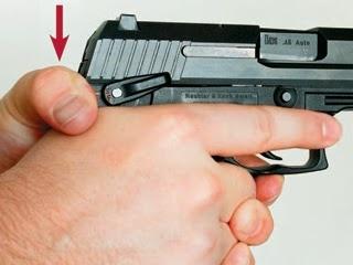 Pain in thumb firing a glock