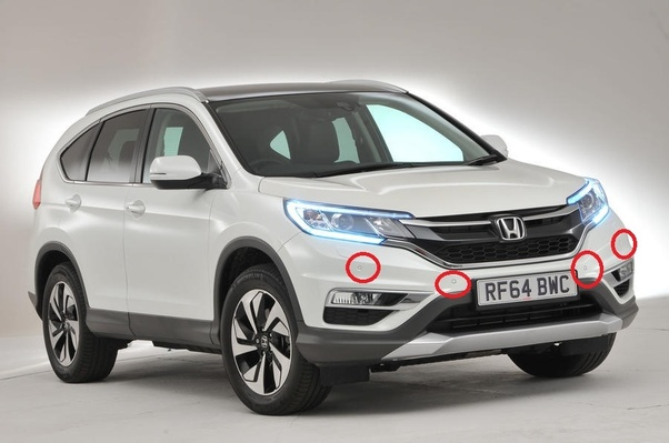 Does the Honda Touring CRV have front parking sensors? - Quora
