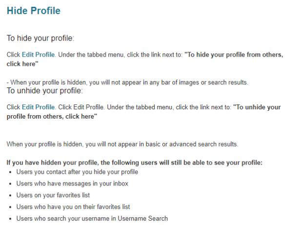 delete pof account link