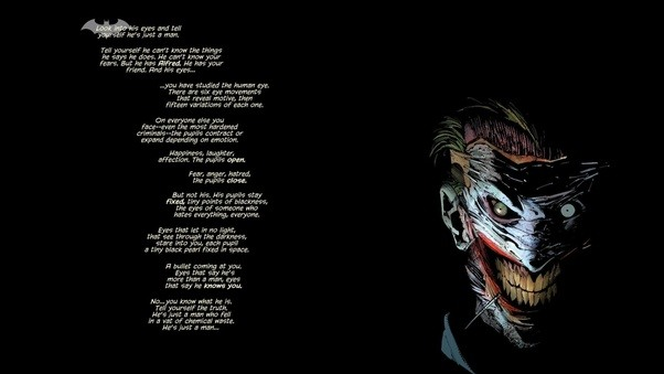 is the joker scary quora