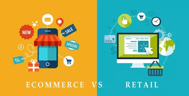 What is the difference between e commerce and retail for The best online store