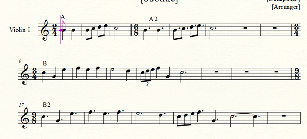 How to rewrite music in simple time to compound time and
