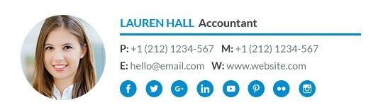 few example of professional email signature