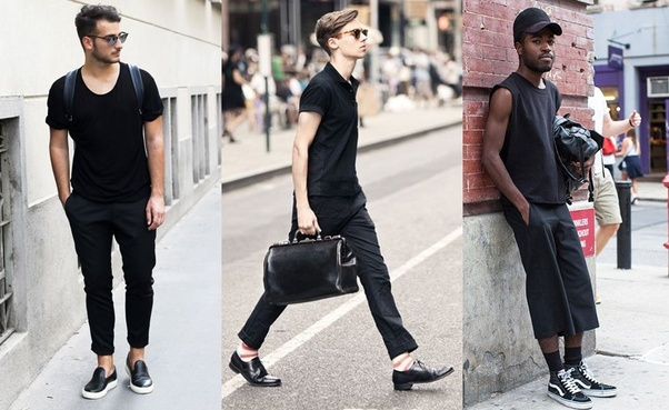 c4537a1c6d7 I think Men should wear All black Outfits more often. Nowadays, there are  so many black clothing that men can choose, starting with casual, trendy,  formal, ...
