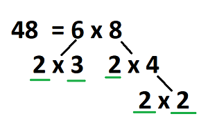 So The Intention Here Is To Find Final Factors Of 48 That Do Not Get Factorize Further Other Than 1 And Itself Thus They Become Prime