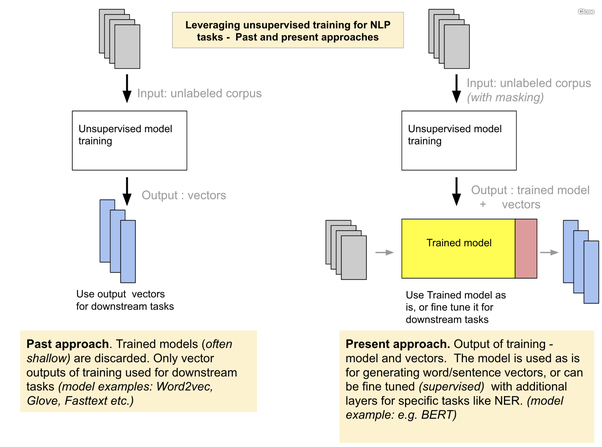 What are the main differences between the word embeddings of