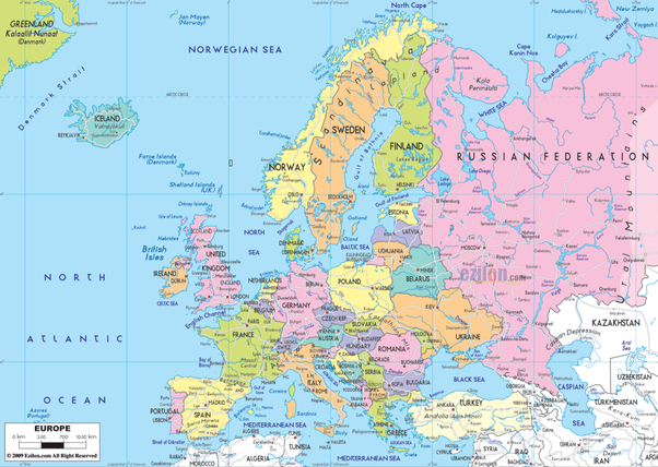 Map Of England Europe.Is England Located In Eastern Europe Quora