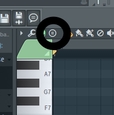 Where is the chord option in the Piano roll of FL Studio
