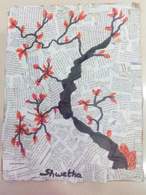 Art On Newspaper Collage