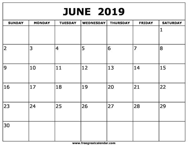 How to get a printed or printable calendar for June 2019 - Quora