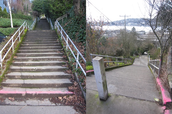 The Howe Street Stairs On Capitol Hill In Seattle!