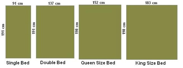 King Size Queen, What Size Is A King Bed In Centimetres