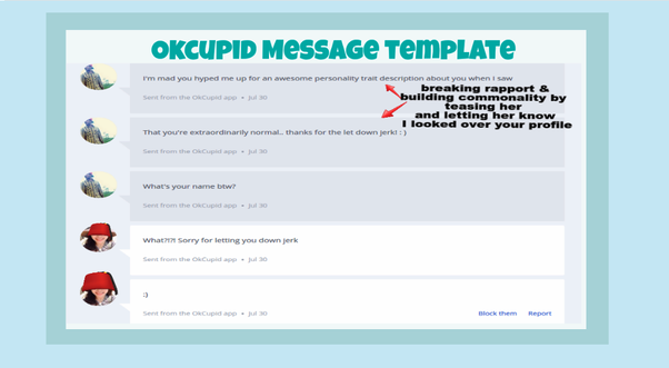 How to talk to a girl online quora for Okcupid profile template