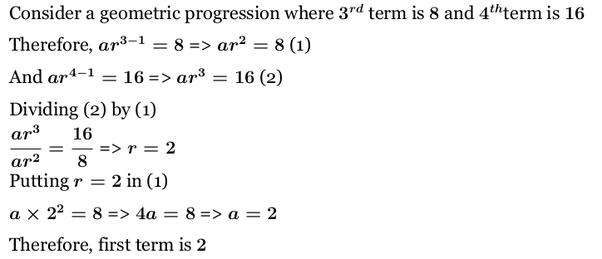 what is a geometric progression