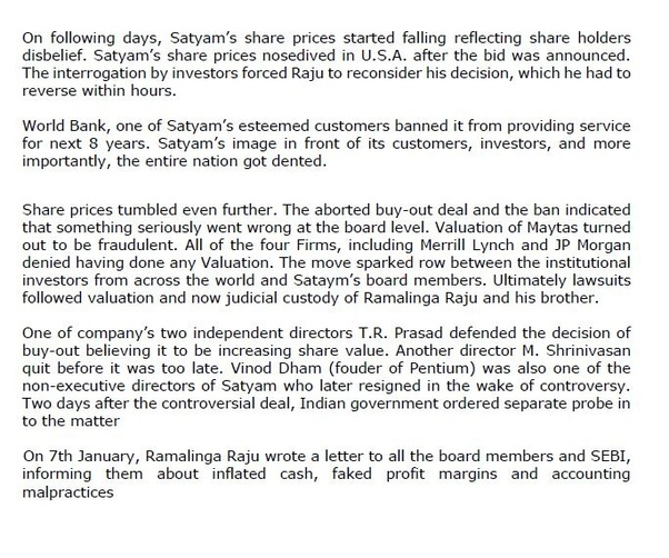 What was the Satyam scam? - Quora