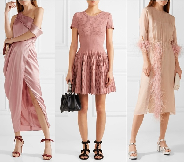 fd17dffced8 A pastel pink dress with blush or beige shoes is a really simple way to go.  You can either opt for a light pink dress with matching light pink shoes or  opt ...