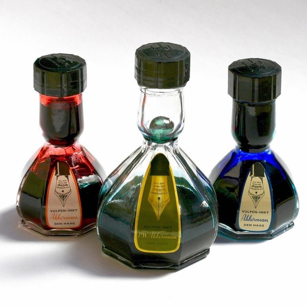 512796b448 This is probably a good example of one of the weirdly shaped ink bottles.  This is made by Akkermen inks from the Netherlands and I'd say the design  ...