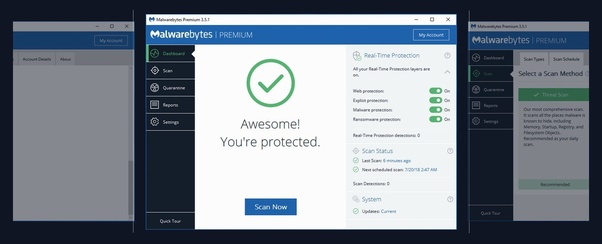 Is the free version of 'Malwarebytes' safe for Windows and