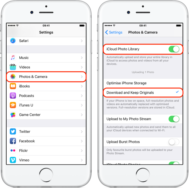 How to transfer all my photos on iCloud to my iPhone's 256gb
