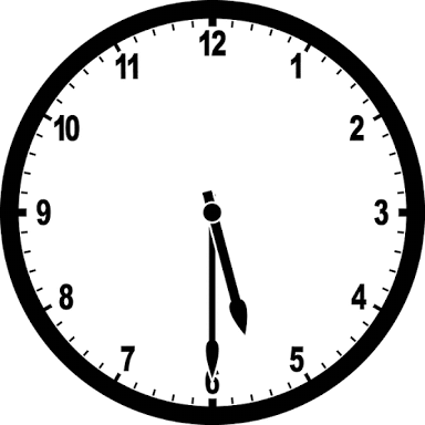 at what time between 5 30 and 6 will the hands of a clock be at a