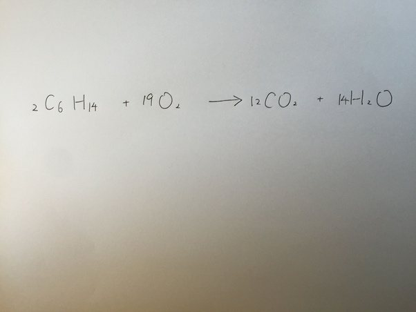 What Is The Combustion Reaction Of Hexane Quora