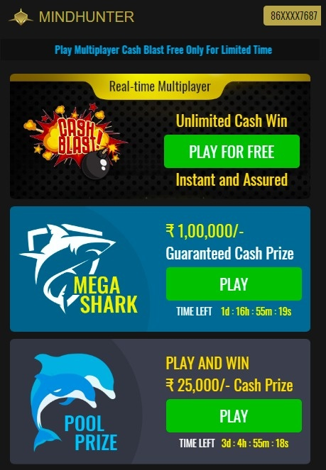 List of online games you play for cash prizes