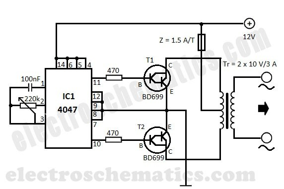 how to convert dc 12v to 220v ac