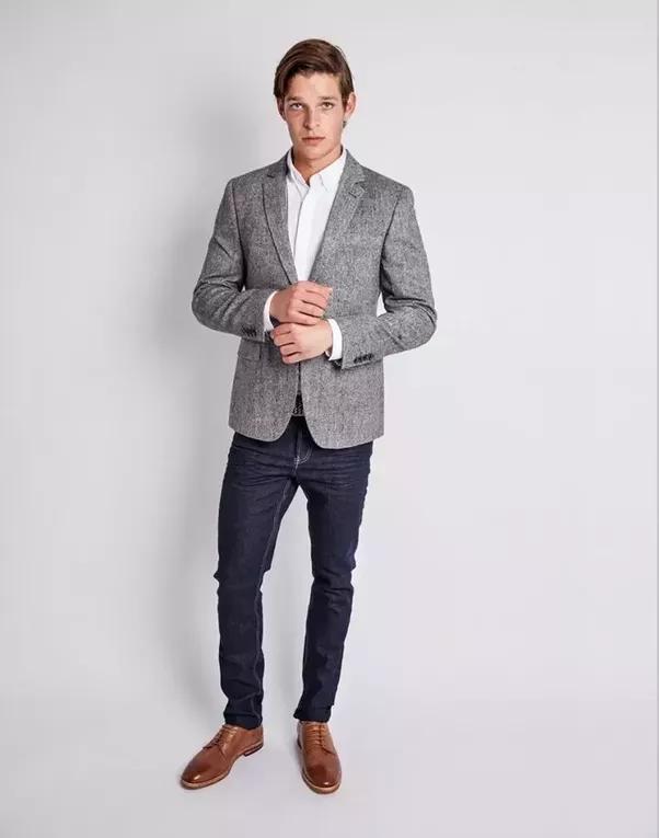 Mens fashion jeans and blazer
