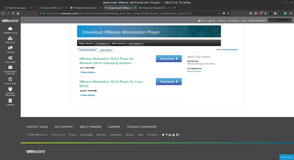 download vmware player for windows