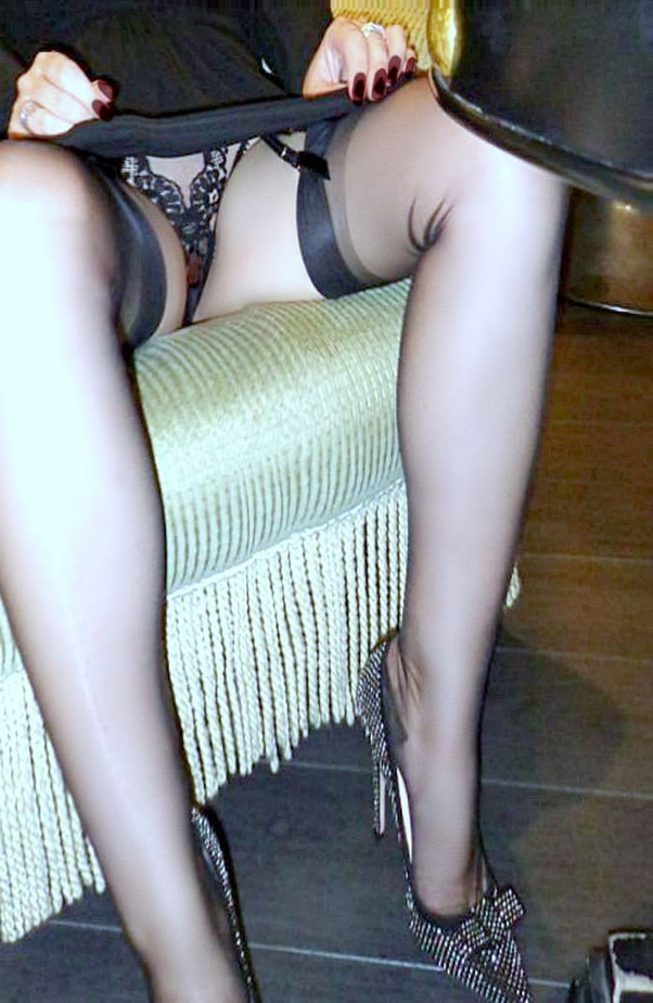 High Heels Black Stockings