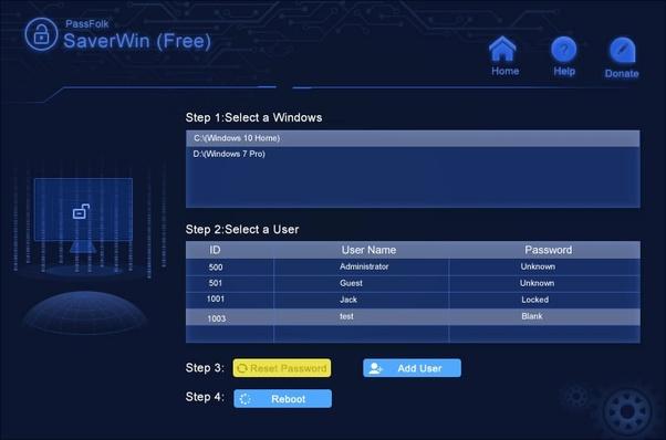 unlock computer without password windows 10