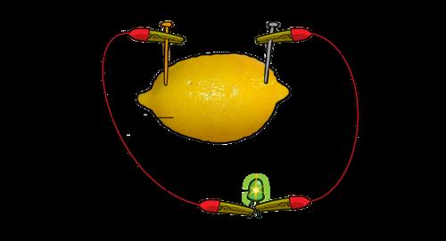 why do lemons produce electricity