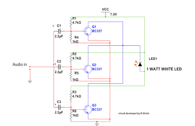 I want to demonstrate the power of li fi or visible light each transistor base consists of voltage divider which gives necessary bias for the individual transistor the input stage has capacitors at each ccuart Gallery
