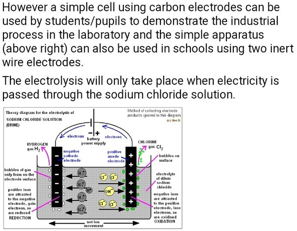 Which products are obtained during electrolysis of