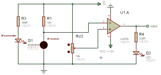 How to build an IR sensor using an IR transmitter and receiver using