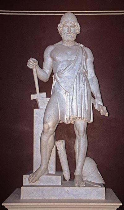 Who was the Roman equivalent of the Greek god Hephaestus ...