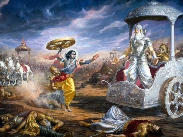 Had Lord Krishna Actually Broken His Vow In The Mahabharat War Or Is It An Unknown Fact Quora
