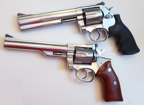Which revolver do you prefer, the Smith and Wesson 686, or the Ruger