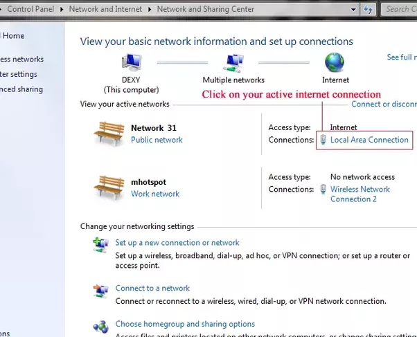 When i create a hotspot on my laptop it works i can connect my click on the blue label of your active internet connection eg local area connectionppoe connection 3g usb connection etc greentooth Gallery