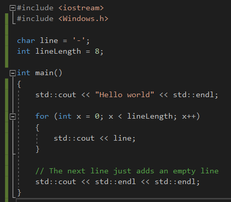 How to edit the line length in my source code using Visual Studio