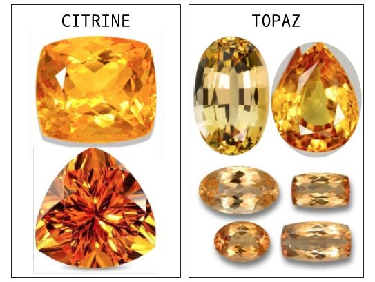 Gemstones What Is The Difference Between A Topaz And Citrine Is