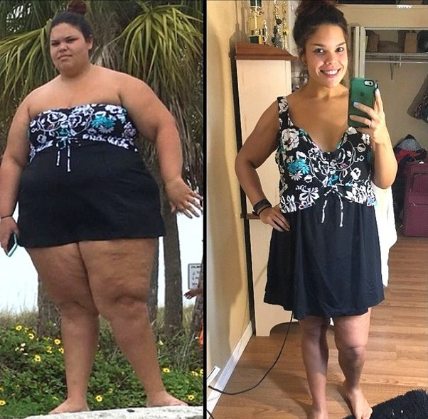 Lady Loses Weight Drinking Green Tea