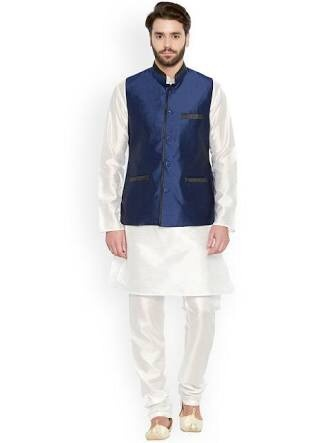 What Should I Wear With A Blue Nehru Jacket I Have To Attend An