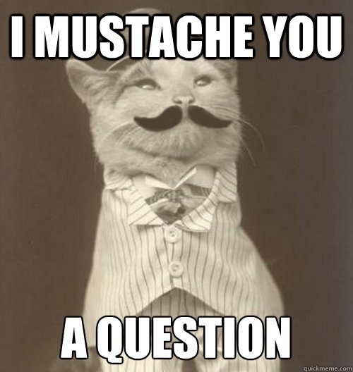 I mustache a question