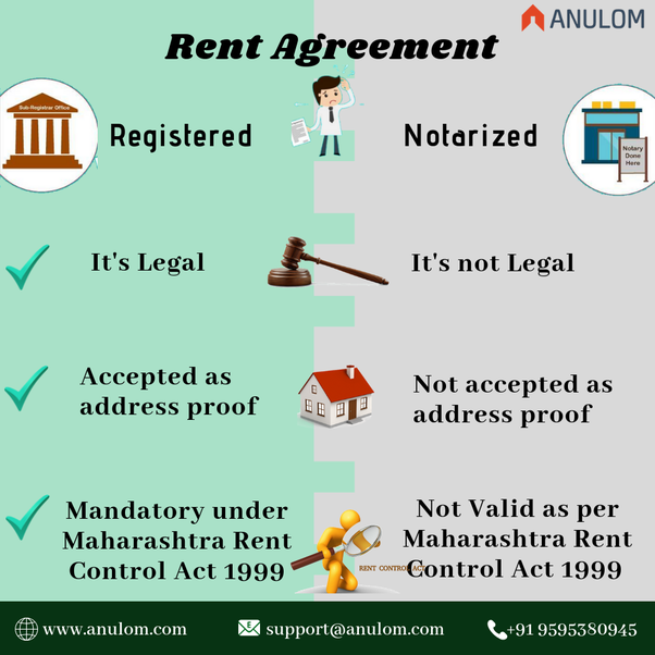 What Is Preferred Notarized Rent Agreement Or Registered Rent