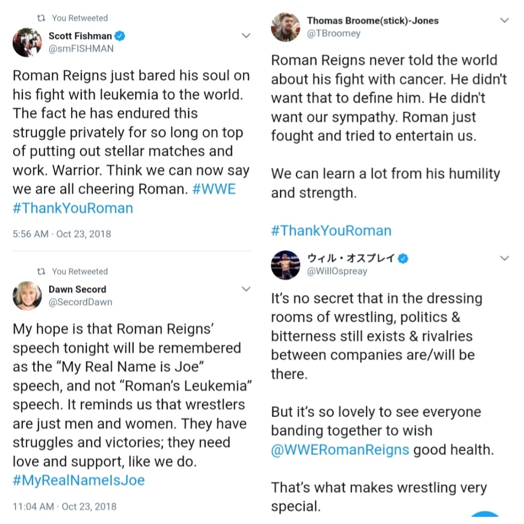 Is the leukemia diagnosis of Roman Reigns part of a WWE